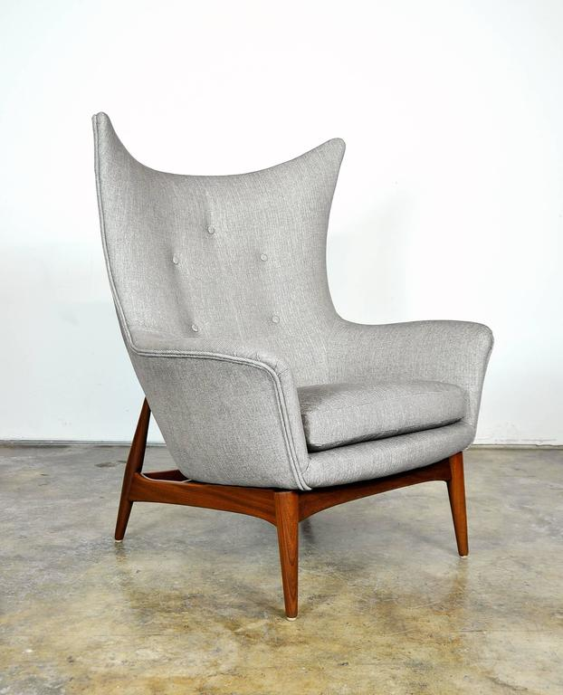 Pair of H.W. Klein for Bramin Teak Wingback Lounge Chairs 5