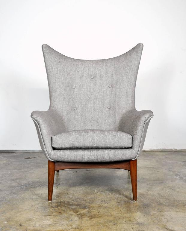 Pair of H.W. Klein for Bramin Teak Wingback Lounge Chairs 6