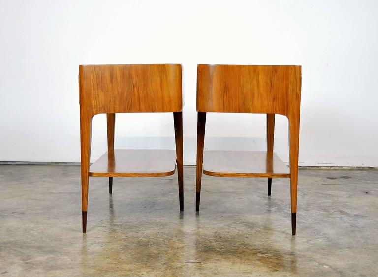 Mid-20th Century Pair of Night Stands Attributed to Paolo Buffa For Sale