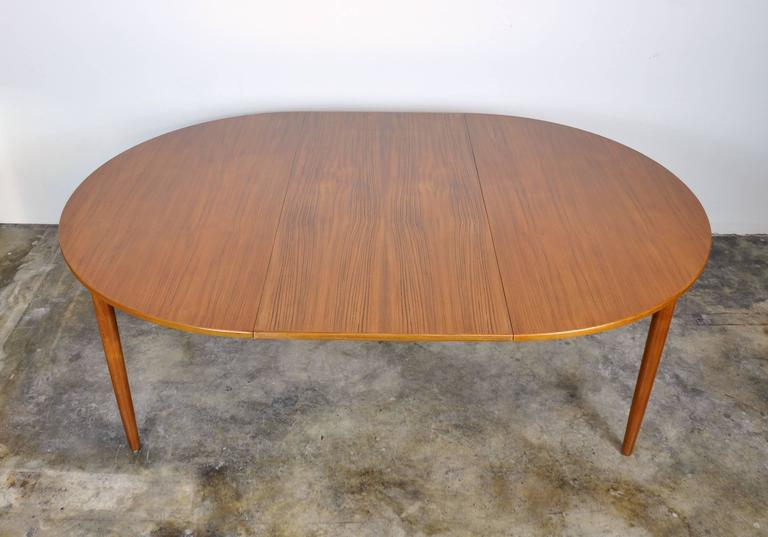 Scandinavian Modern Falster Teak Expandable Dining Table For Sale