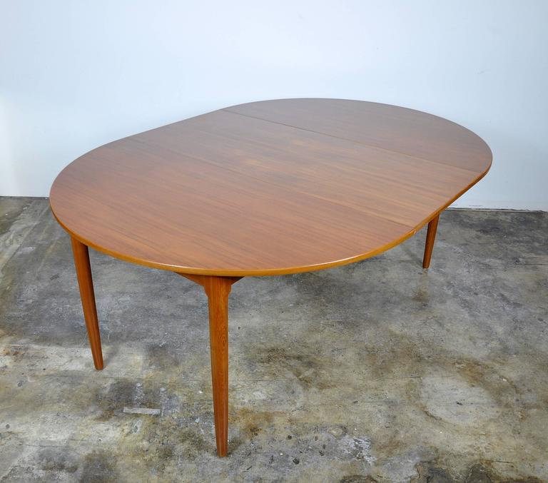Mid-20th Century Falster Teak Expandable Dining Table For Sale