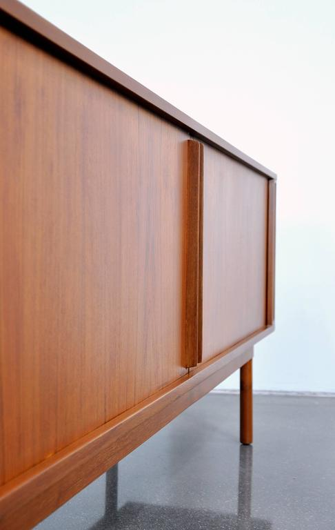 Jens Quistgaard For Lovig Teak Credenza With Tambour Doors