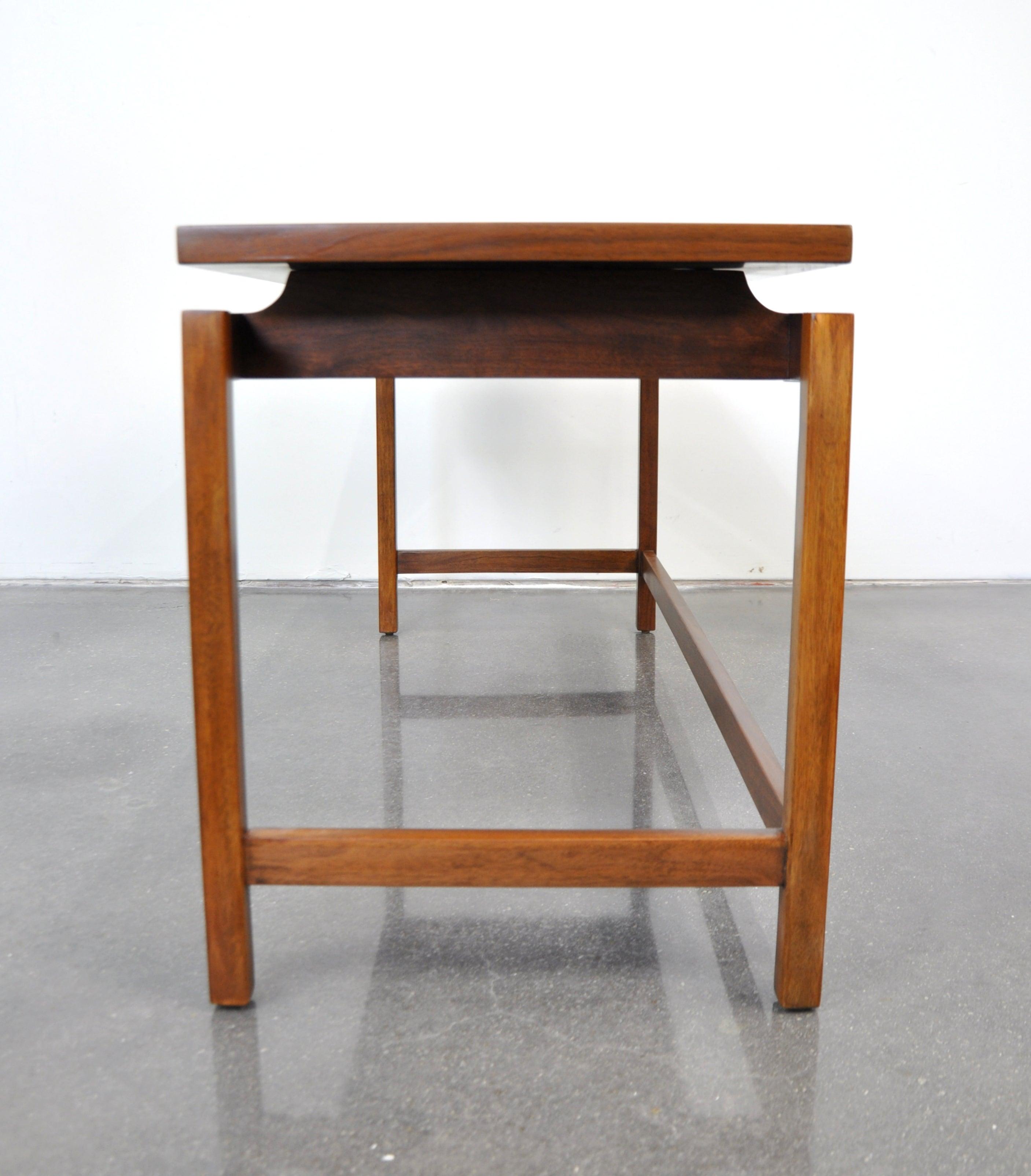 Pleasant Danish Modern Jens Risom Walnut Sofa Table Lamtechconsult Wood Chair Design Ideas Lamtechconsultcom