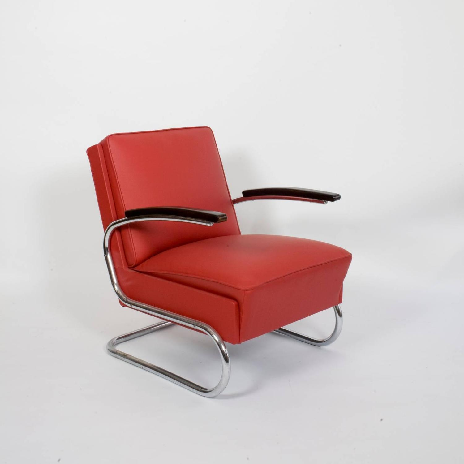 pair of 1930s bauhaus mauser steel tube club chairs for sale at 1stdibs. Black Bedroom Furniture Sets. Home Design Ideas