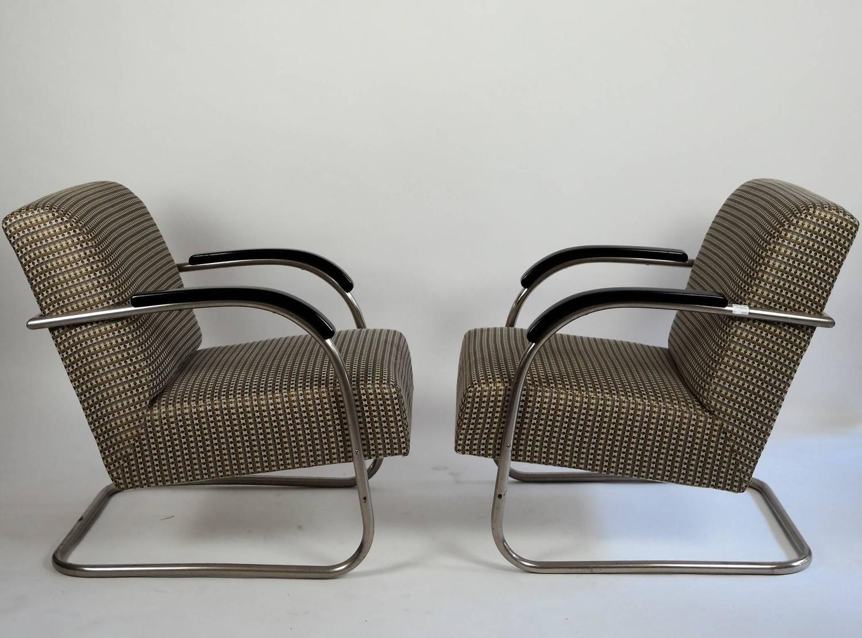 Pair Of 1930s Bauhaus M 252 Cke And Melder Steel Tube