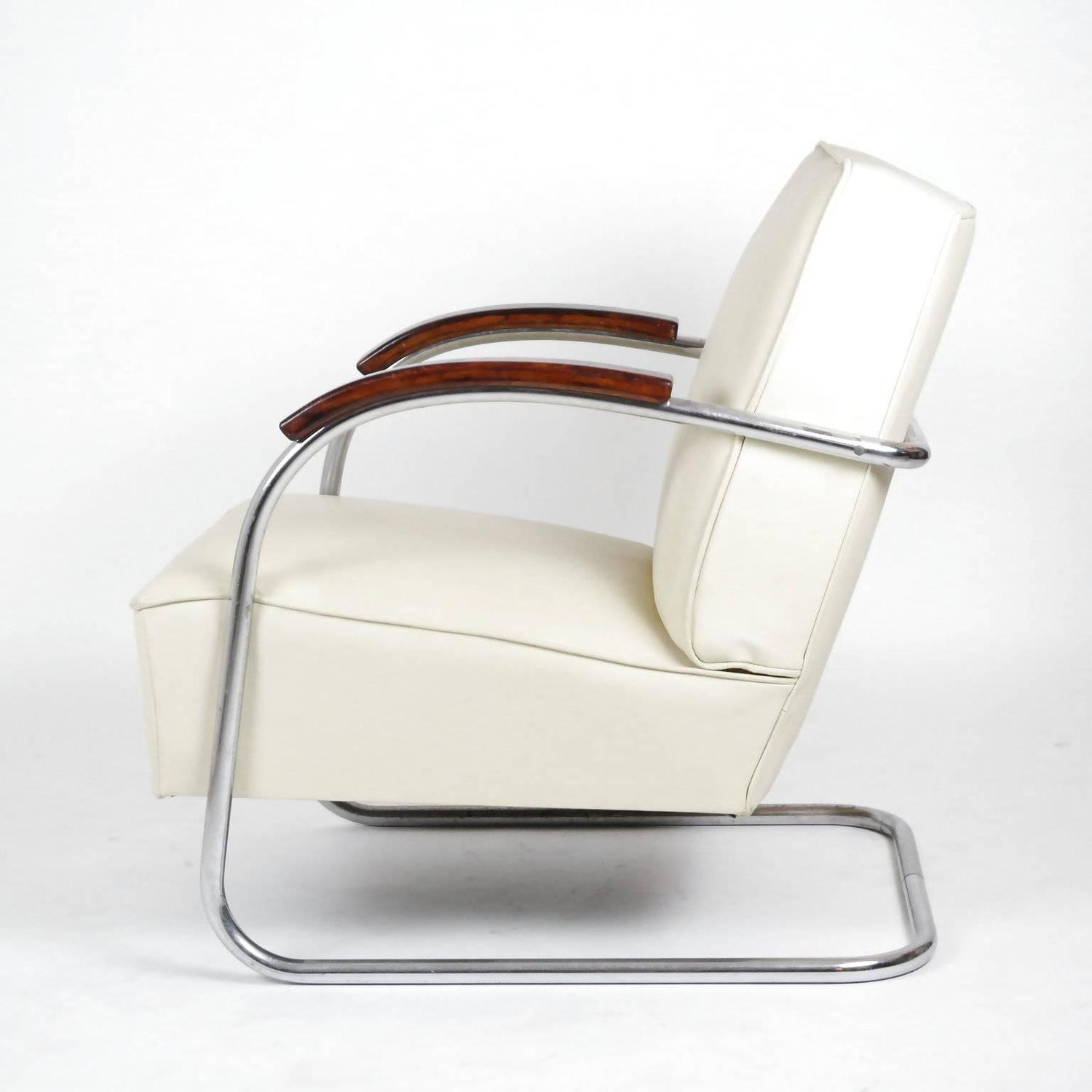 1930s bauhaus mauser steel tube club chair for sale at 1stdibs. Black Bedroom Furniture Sets. Home Design Ideas