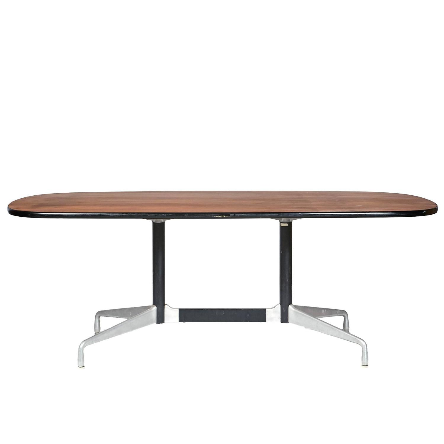 herman miller walnut top table by ray and charles eames 1964 at 1stdibs. Black Bedroom Furniture Sets. Home Design Ideas