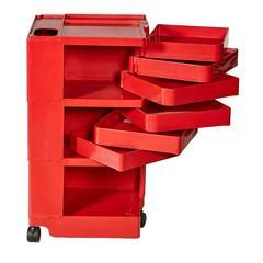 Joe Columbo Red Plastic Boby Storage Office Organizer