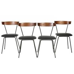 Paul McCobb Iron Dining Chairs, Set of Four