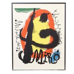 "Joan Miró ""Peintures Murales"" Poster, 1960s"
