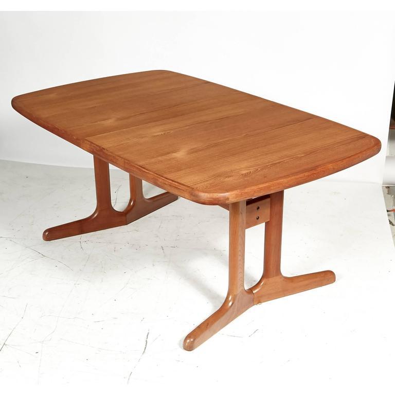 Danish Teak Dining Room Table, 1970s For Sale At 1stdibs