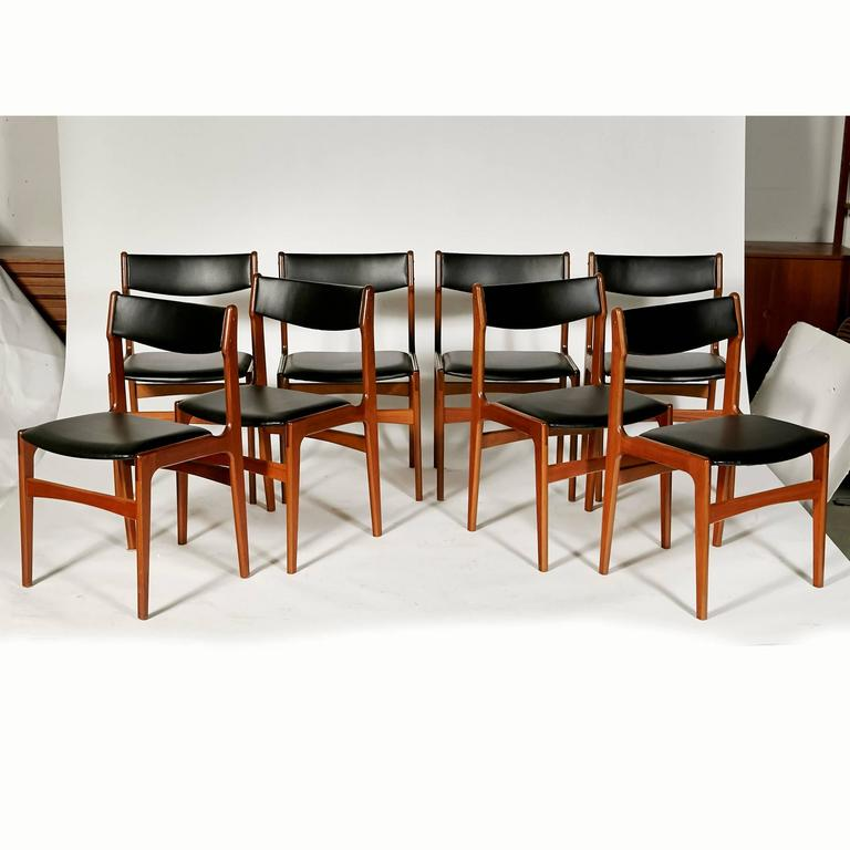1970s danish teak and naugahyde dining chairs set of for 1970 dining room set