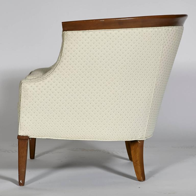 Walnut Sculpted Lounge Chair By Erwin Lambeth For
