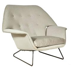 1950s Sled Base Lounge Chair in the Manner of Carlo Hauner & Martin Eisler