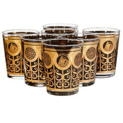 Large Old Fashioned Glass Bar Tumblers, 1960s