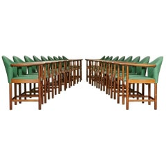 Danish Teak Conference Chairs by Peter Hvidt, Set of 16