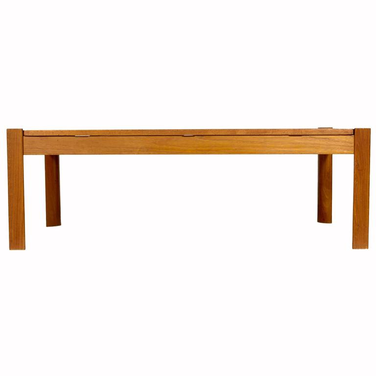 Danish Solid Teak Reversible Top Coffee Table 1960s For Sale At 1stdibs