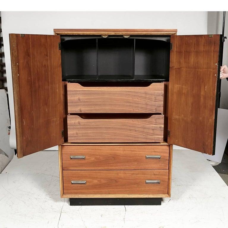 1960s Bassett Furniture Walnut Tall Dresser At 1stdibs