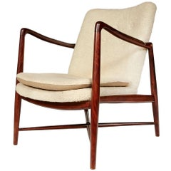 "Finn Juhl Beechwood ""Fireplace Chair"" for Borvirke, Denmark, Model BO-59"