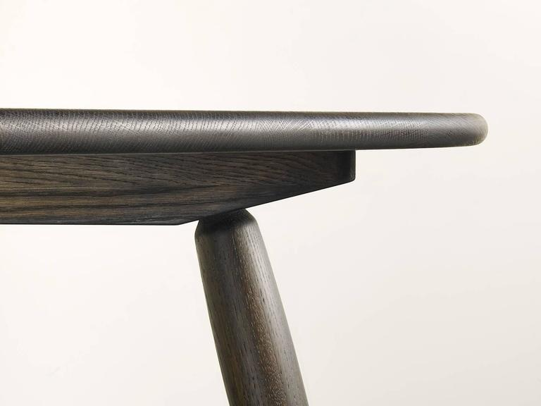 Organic Modern Modern Custom Oxidized Oak Dining Table from the Nomad Collection by Jacob May For Sale