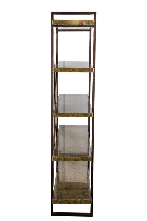 brass and bronze modern etagere for sale at 1stdibs. Black Bedroom Furniture Sets. Home Design Ideas