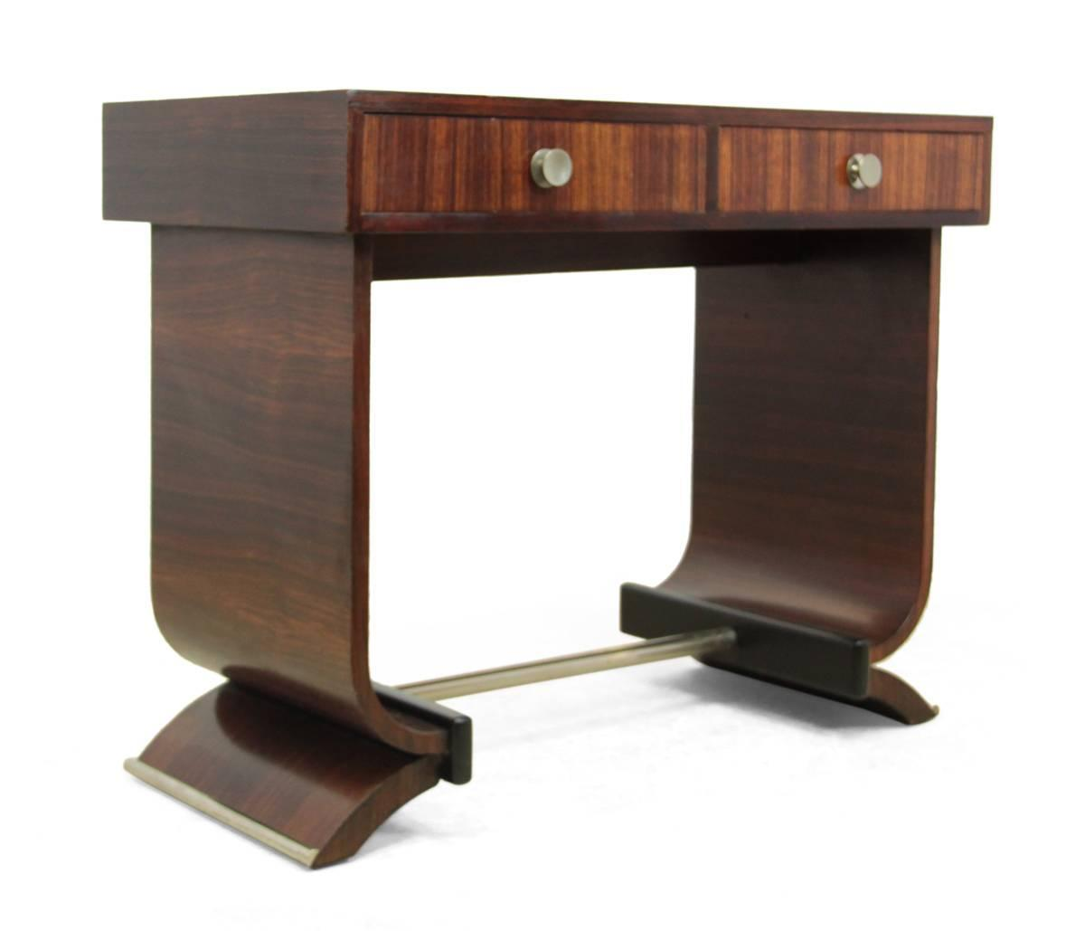 french art deco console table in rosewood circa 1920 at 1stdibs. Black Bedroom Furniture Sets. Home Design Ideas