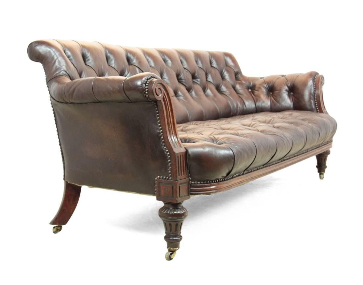 Antique Buttoned Leather Sofa Circa 1880 At 1stdibs