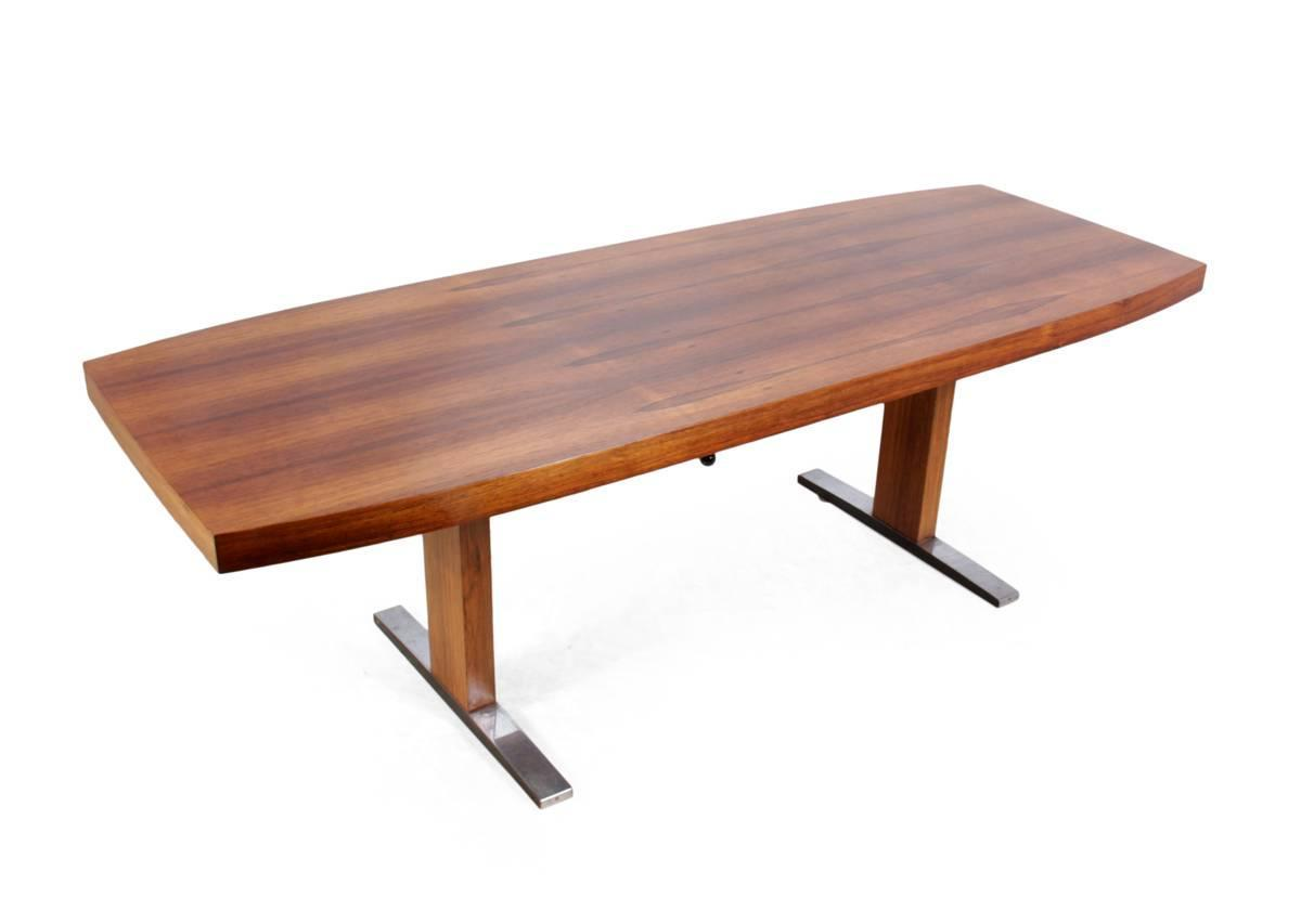 Mid Century Coffee Table In Indian Rosewood France Circa 1960 At 1stdibs