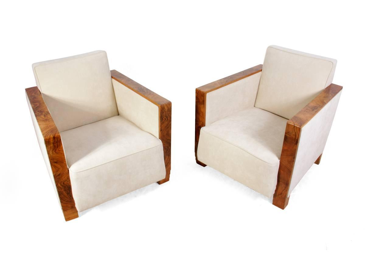 Art Deco Chairs Walnut Arms France Circa 1920 For Sale At 1stdibs