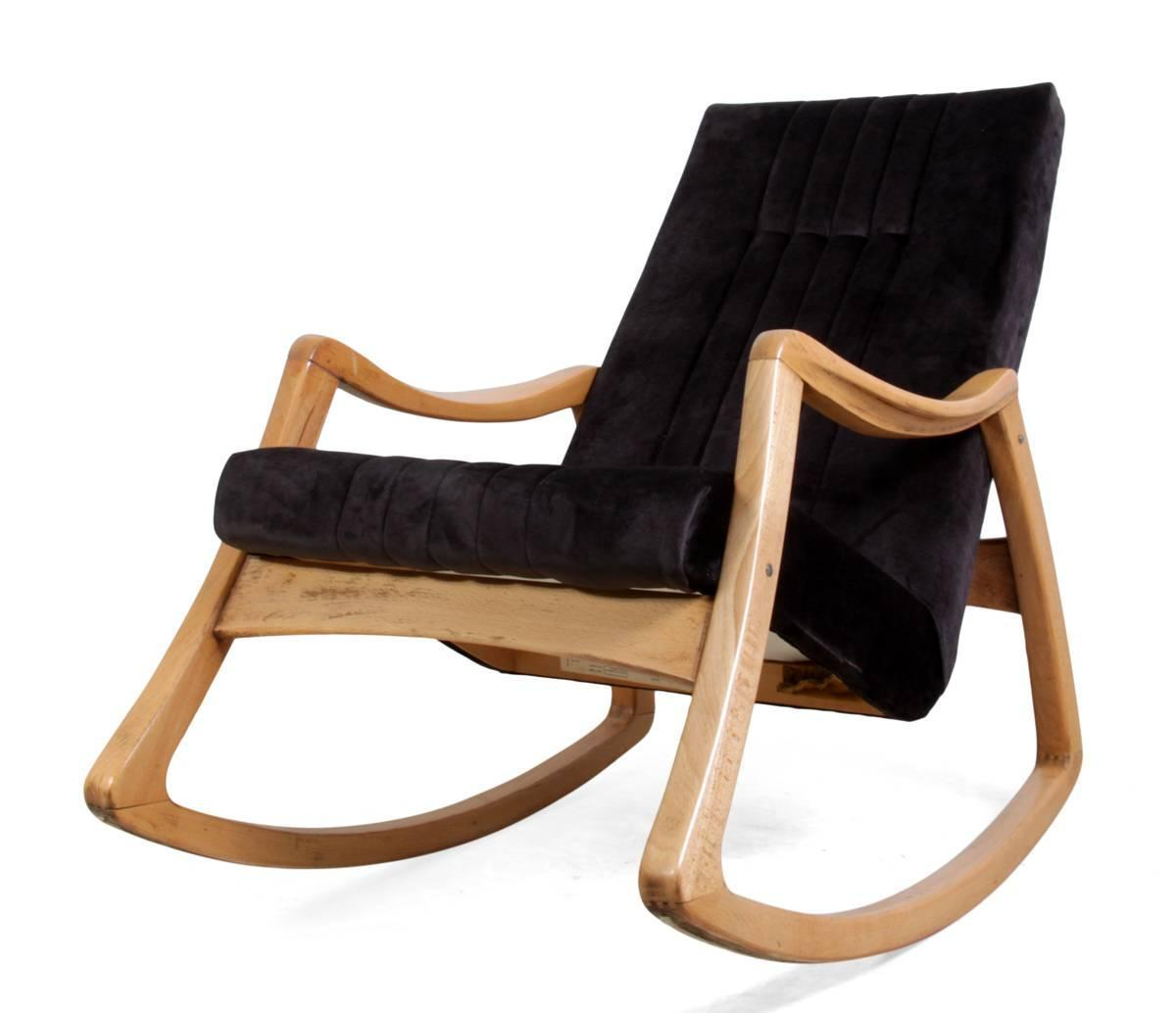 Midcentury Rocking Chair For Sale at 1stdibs