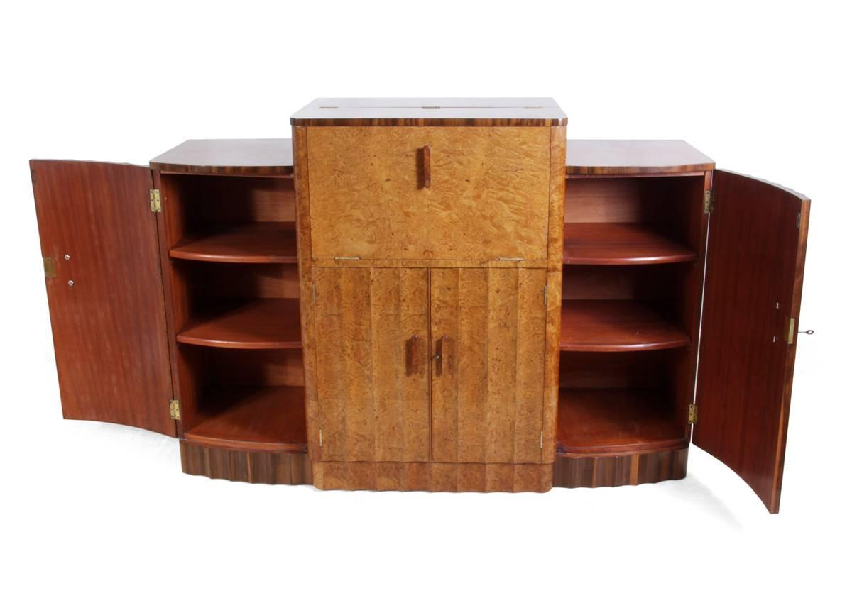 Art deco walnut sideboard cocktail by epstein circa 1930 at 1stdibs - Epstein art deco furniture ...