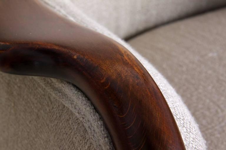 Upholstery Danish Armchair, circa 1940 For Sale