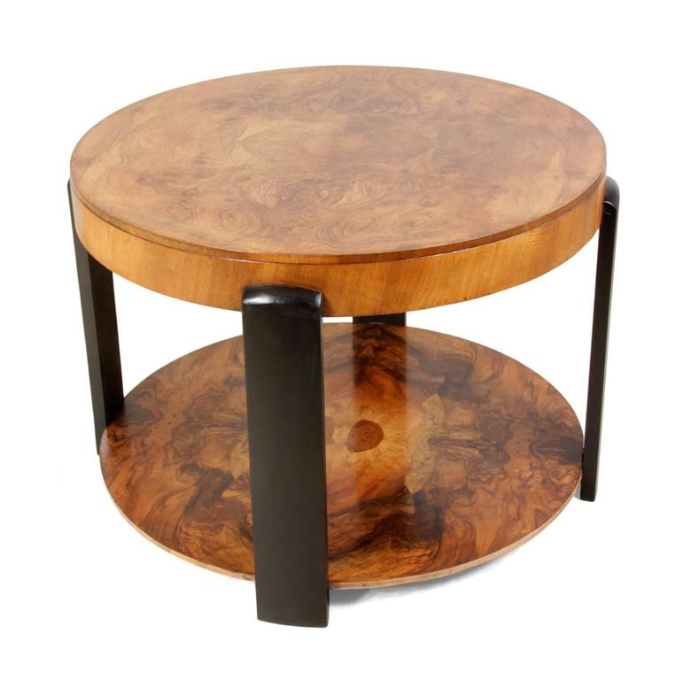 art deco walnut coffee table circa 1930 at 1stdibs. Black Bedroom Furniture Sets. Home Design Ideas