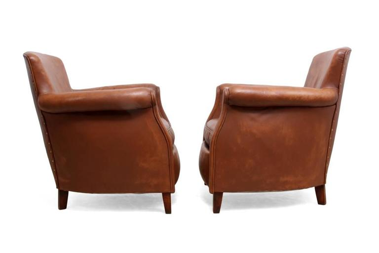Pair of Small French Club Chairs at 1stdibs
