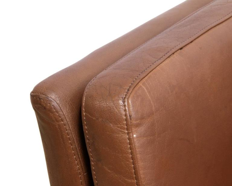 Two-Seat Leather Sofa Danish, circa 1960 For Sale 4