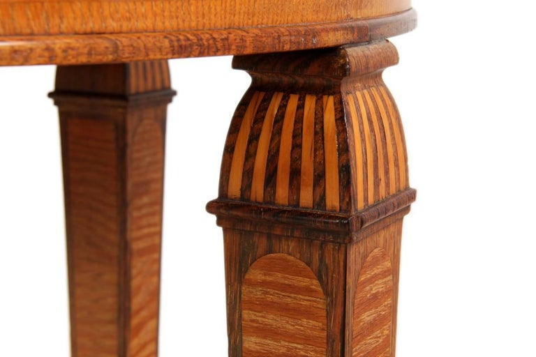 Art Deco Walnut and Rosewood Side Table In Excellent Condition For Sale In Paddock Wood, Kent