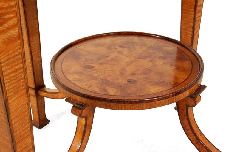 Early 20th Century Art Deco Walnut and Rosewood Side Table For Sale