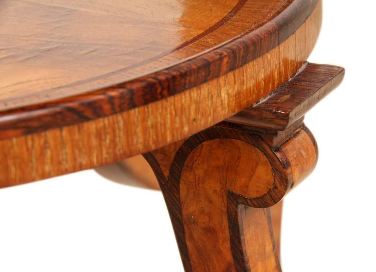 Art Deco Walnut and Rosewood Side Table For Sale 5