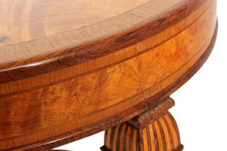 Art Deco Walnut and Rosewood Side Table For Sale 4