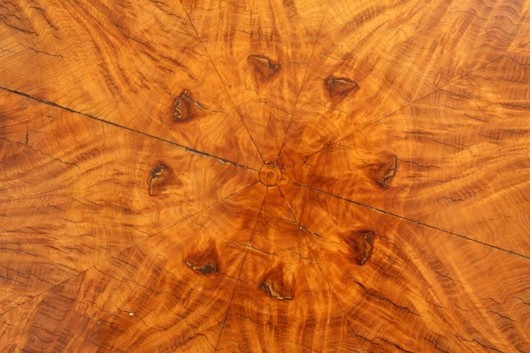 Art Deco Walnut and Rosewood Side Table For Sale 6