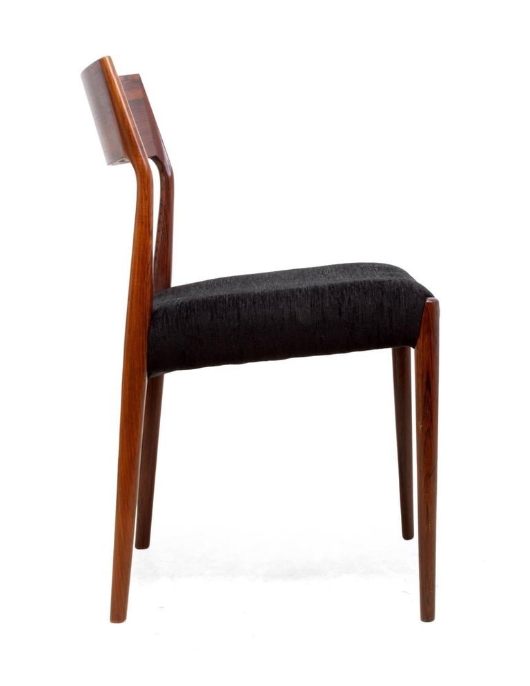 Rosewood Midcentury Dining Chairs Set of Six For Sale