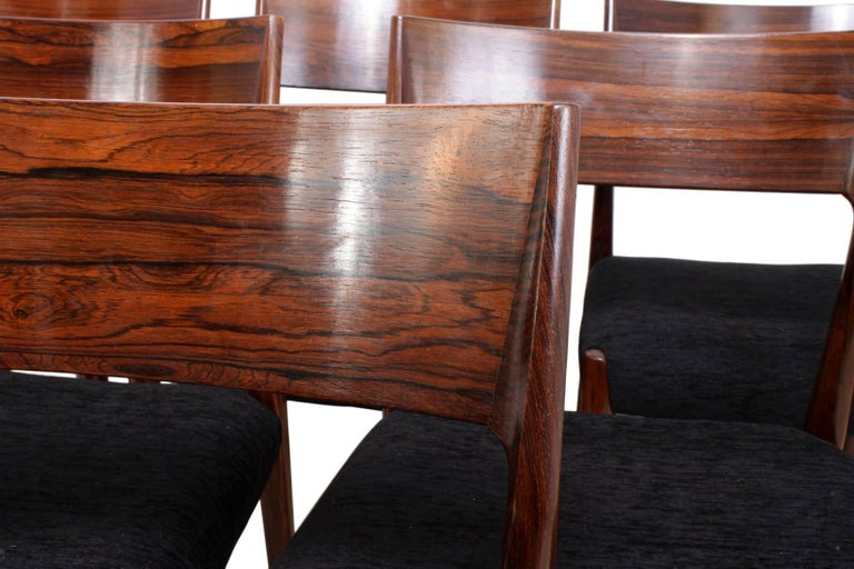 Danish Midcentury Dining Chairs Set of Six For Sale