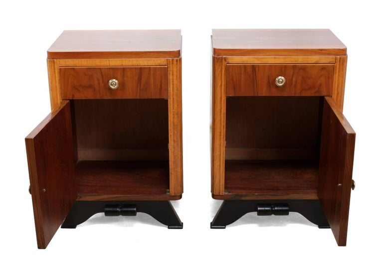 Pair of French Art Deco Bedside Cabinets  In Excellent Condition For Sale In Yalding, Kent