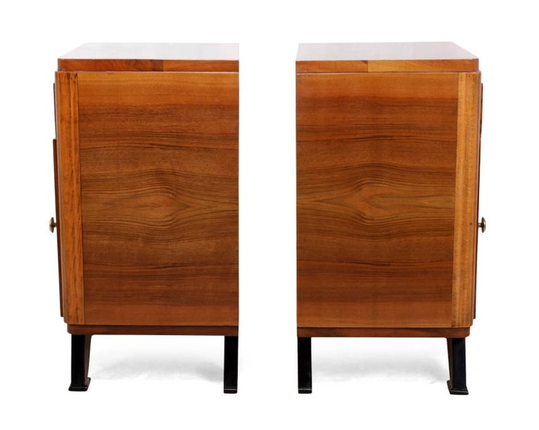 Pair of French Art Deco Bedside Cabinets  For Sale 3