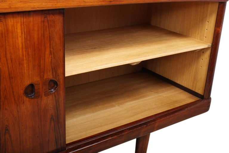 Midcentury Sideboard in Rosewood by Bramin For Sale 3