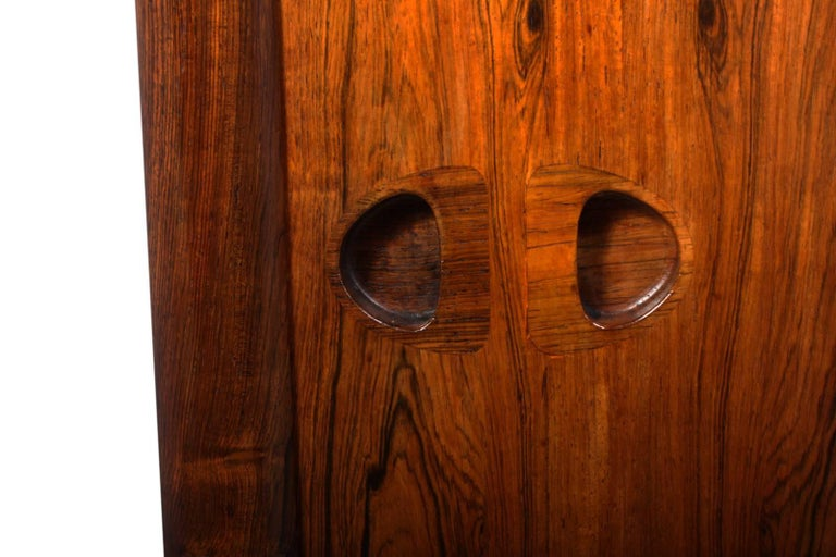 Midcentury Sideboard in Rosewood by Bramin For Sale 4