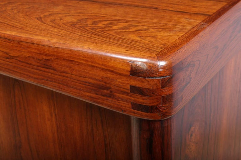 Midcentury Sideboard in Rosewood by Bramin For Sale 1