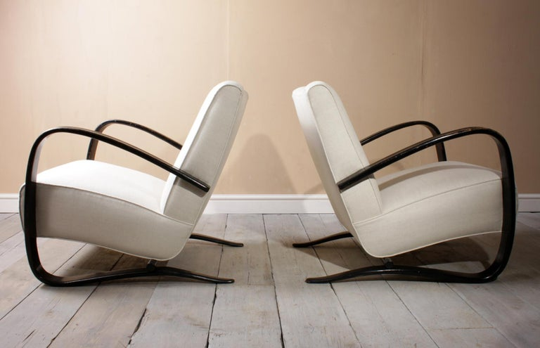 Czech Halabala Armchairs H269 For Sale