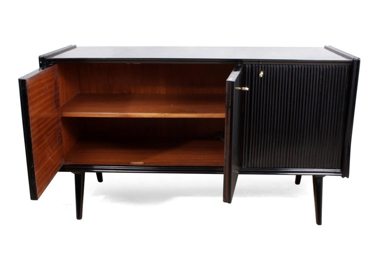 Pair of Midcentury Italian Piano Lacquer Sideboards For Sale 1