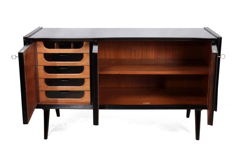 Pair of Midcentury Italian Piano Lacquer Sideboards For Sale 4